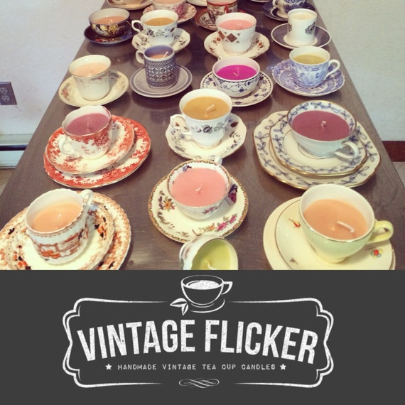 Wedding Favor Candles Scented Teacup Candles By VintageFlicker