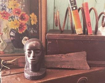 Vintage Egyptian Queen Hatshepsut Bust Figurine