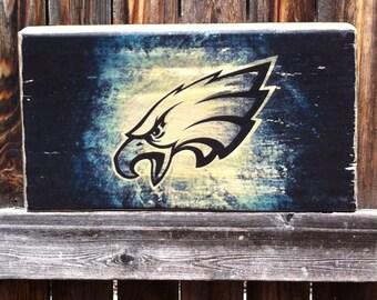 Philadelphia Eagles Team Logo Wooden Wall Hanging