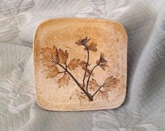 Hogbacka Sipoo Ceramic Wall Art,  Botanical Wall Art, Finland, Scandinavia Wall Plate, Ceramic Hogbacka Finland Plaque, Pressed Clay Art
