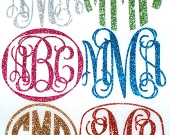 Monogram T-shirt, Iron On Letters, Personalize Clothing, Glitter Monogram, Monogram Shirt, DIY Monogram, Name Monogram, Stocking Stuffer