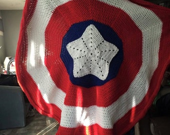 Captain America Afghan