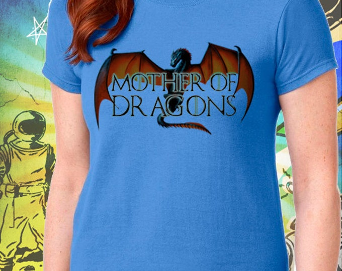 Game of Thrones S6 Mother of Dragons Women's Blue T-Shirt Mother of Dragons