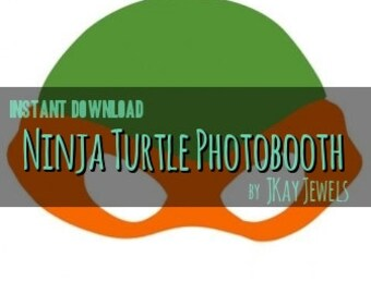 Ninja Turtle Photobooth Mask Silhouette SVG File For Die Cut Vinyl Machines and Crafts