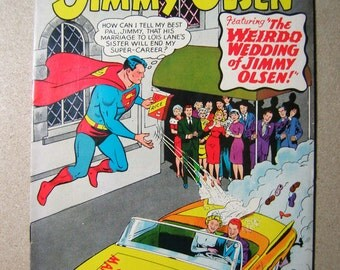 Old Comic, Superman 100th Anniversary Issue, 1960s, Wedding, Jimmy Olsen, Superman's Pal, Vintage Comic Book, Collectible, DC Comic