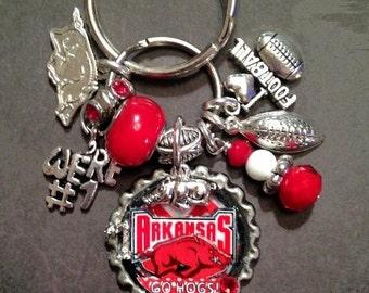 Arkansas Razorback (Inspired) Handmade KeyChain/PurseCharm