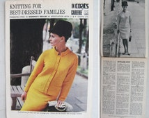 Fabulous vintage 1960s knitting pattern collection~Knitting for the best-dressed families~Some stunning designs to make!
