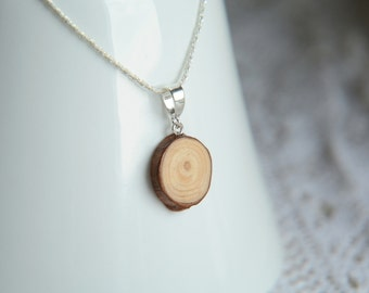 Minimalist wooden pendant, natural wood pendant, men wooden necklace, men raw wood jewelry, minimalistic wooden jewelry