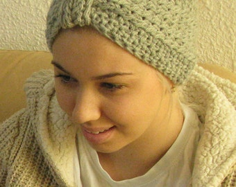 BUY 3 get one for free!!!Heather grey cable knit head band,cozy ear warmer,wide winter headband,  Winter Headband, Knit Ear Warmer