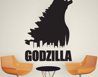 Godzilla Monster Wall Decal Art Decor Sticker godzilla decal godzilla poster godzilla sticker monster wall decal monster decal monster decor