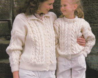 PDF unisex Starsky style jacket cardigan vintage knitting