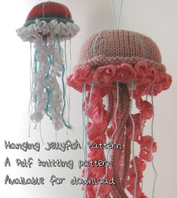 Knitting Pattern For Jellyfish : Jellyfish Knit Pattern Hanging Jellyfish PDF Pattern