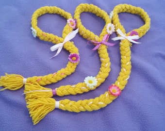Disney Inspired Tangled Rapunzel Braid Adjustable Yarn Hair Wig Costume!  Great for Birthday Party Favors!!