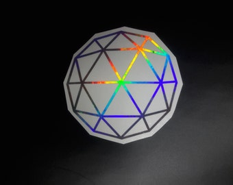 Holographic Geometric Decal, Holographic Decal, Geometric Decal, Trippy Decal, Trippy, Hippy Decal, Tool Decal, Yeti Decal, Pyschedelic