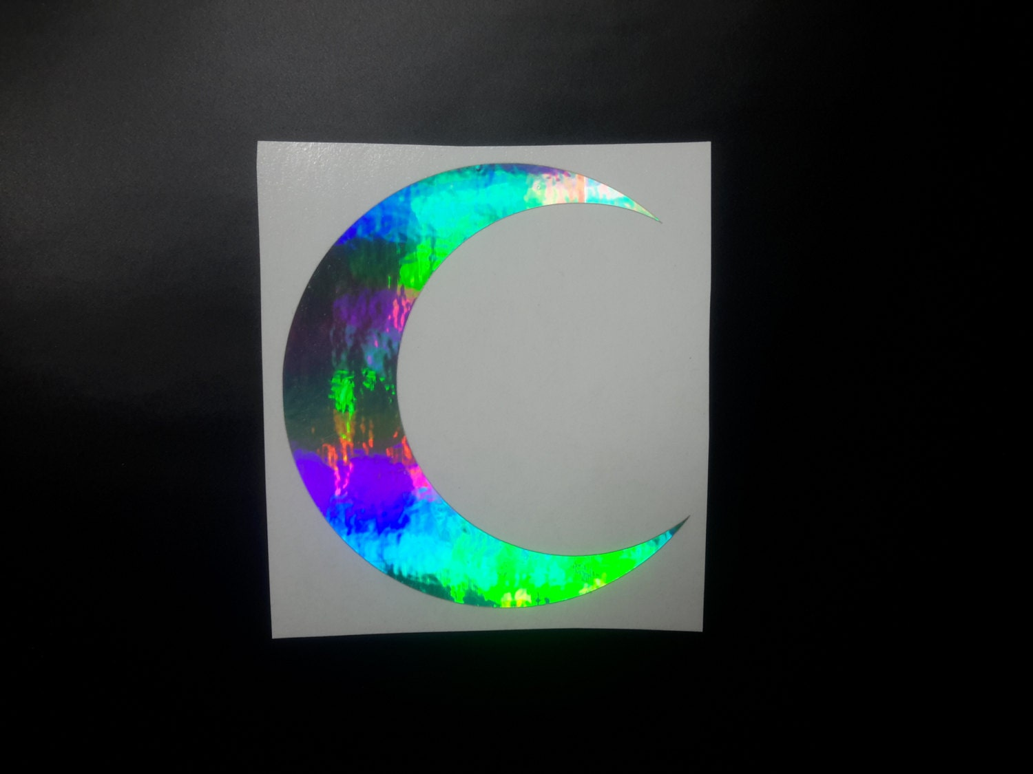 Moon Decal Holographic Moon Decal Holographic Moon Crescent - Sticker custom vinyl decals for carcustom vinyl decals and stickers by stickythingz on etsy