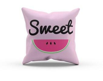 Watermelon Pillow, Nursery Pillow,Throw Pillow, Kids Throw Pillow, Children's Pink Watermelon Pillow