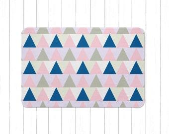 Tribal Pink And Purple Triangle Area Rug Or Bath Mat   Minimalist Geometric  Childrenu0027s Rug