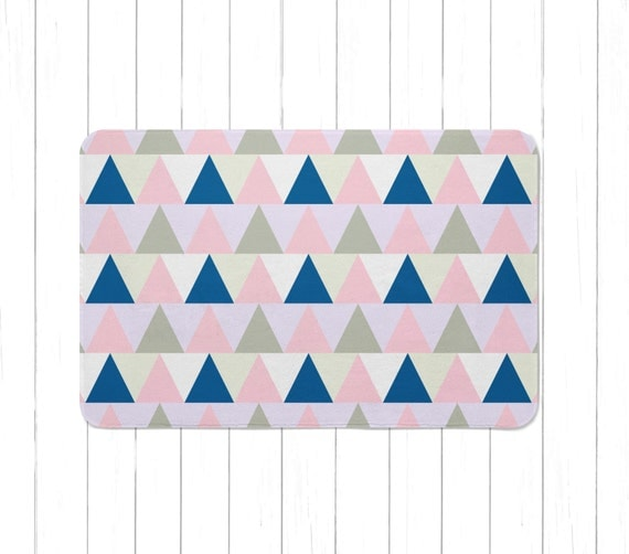 Purple Triangle Rug: Tribal Pink And Purple Triangle Area Rug Or Bath Mat