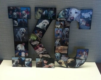 Custom Photo Collage Letters JUMBO Size Personalized Art