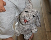 Cute Amigurumi Bunny * crochet * earth tones * stuffed animal * for kids *large ears # one of a kind # perfect birthday present / maternity