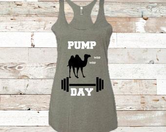PUMP DAY- racerback tank