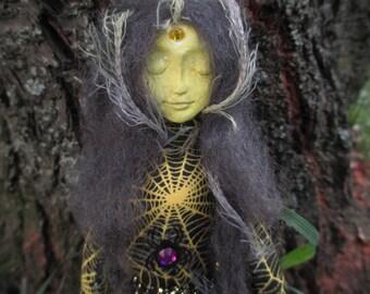 Spirit Doll,Goddess Minerva Spirit Doll,Alter Doll,Poppet Doll,Art Doll