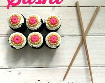 Crochet Sushi Pattern PDF DOWNLOAD, Amigurumi Sushi Pattern, Sushi Crochet Pattern, Easy Sushi Pattern, Amigurumi Sushi Crochet Pattern,