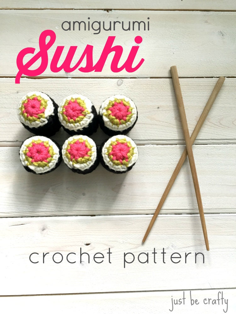 Crochet Sushi Pattern PDF DOWNLOAD Amigurumi Sushi Pattern