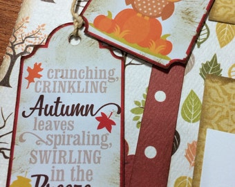 Autumn 12x12 two page scrapbook layout.