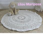 CROCHET RUG PATTERN Crochet Pattern Vintage 70s Crochet Table Top Crochet Table Mat Crochet Pet Mat Pattern