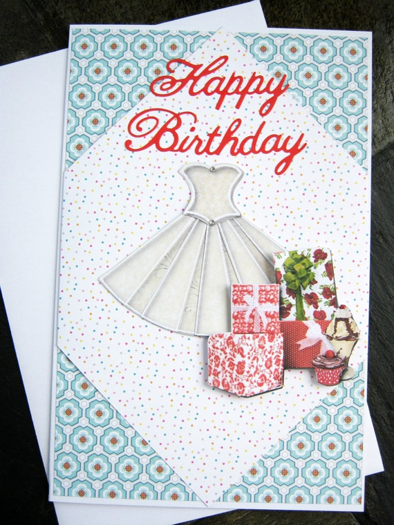 Party Dress Birthday Card Happy Birthday Birthday – Teen Birthday Cards