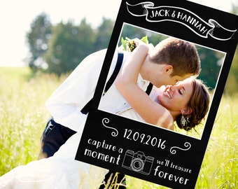 Chalkboard Photo Prop, Digital File - Wedding Photo Booth Prop