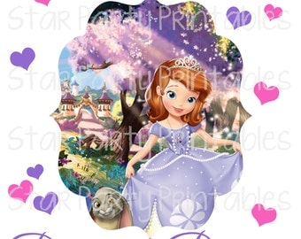 Sofia the First Digital image for iron on transfer for t-shirt, shirt, DYI, mommy of birthday girl