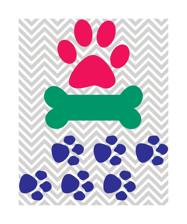 Download Assorted Dog Design Dog Bone Paw Prints SVG DXF JPG