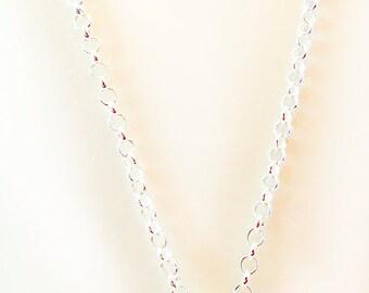0959G - Amethyst necklace, amethyst donut, silver plate chain, magnetic clasp, gemstone necklace, gemstone jewelry, gemstone, amethyst, OOAK