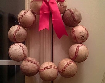 Baseball or Softball Wreath