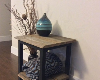 Reclaimed wood Side Table, End Table, Bedside Table