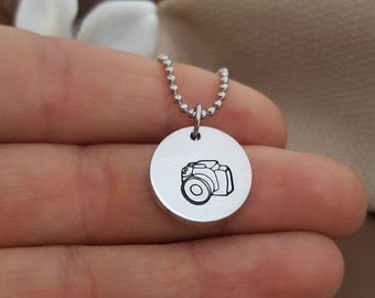 Camera Charm Necklace | Photographer Gift | Photography Camera Jewelry | Camera Necklace