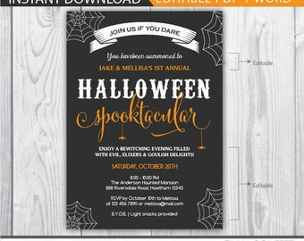 halloween invitation / halloween party invitations / adult halloween invitation / adult halloween party invitations / halloween spooktacular