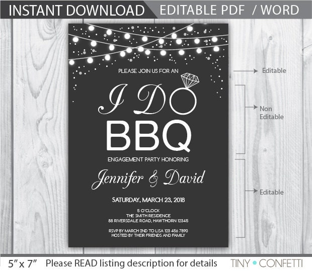 i do bbq invitation i do bbq couples shower i do bbq. Black Bedroom Furniture Sets. Home Design Ideas