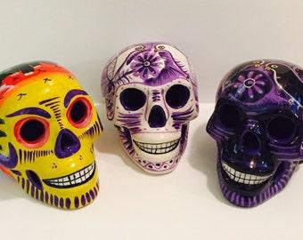 SALE- Dia de los Muertos Skull, Day of the dead, Mexican Folk art, Art, Sugar Skull
