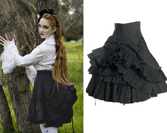Victorian Cotton Mini Bustle Skirt
