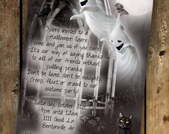 Halloween invitations, Halloween party