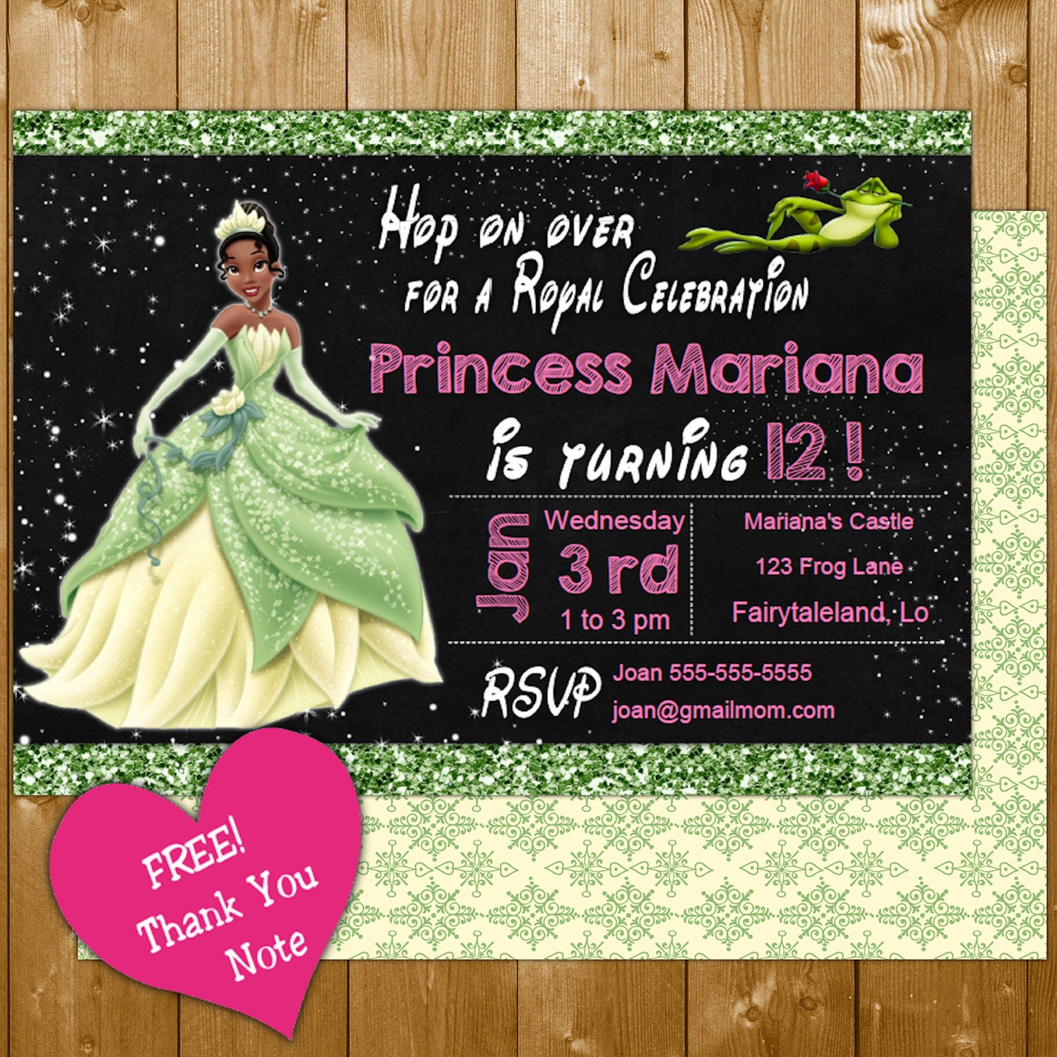 princess invitation funpartysupply – Princess Tiana Party Invitations
