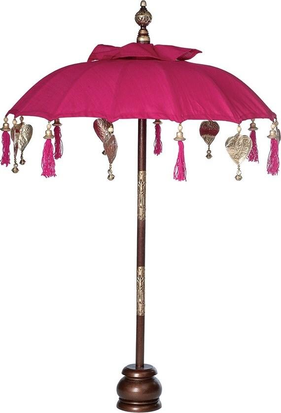 Fuchsia pink balinese festival parasol in by taarabazaar