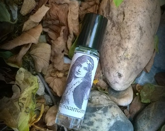 Midnight Gypsy perfume oil, mystical perfume oil 10ml roll on, wild woman, essential oils & absolutes