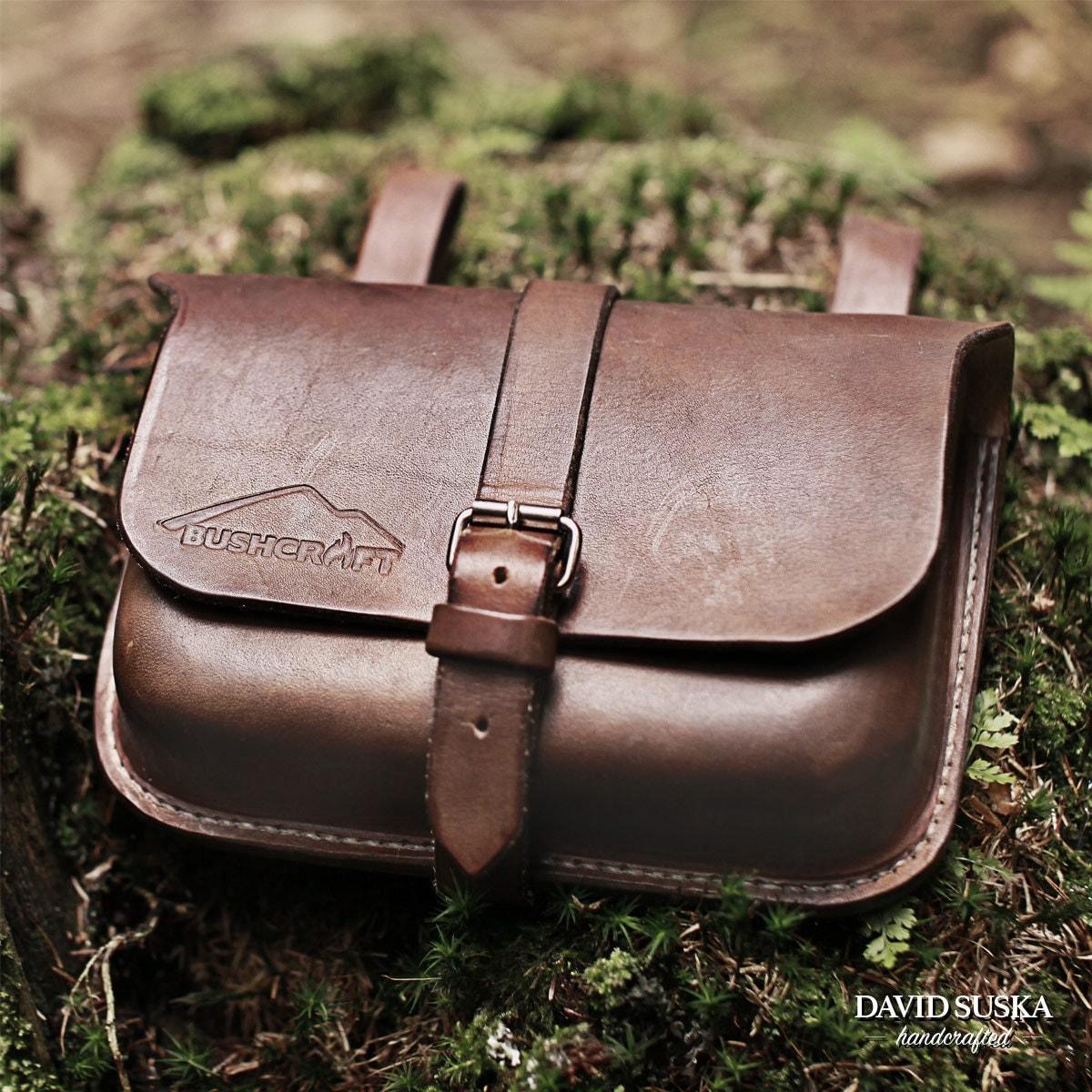 leather belt pouch bushcraft pouch outdoor adventure belt