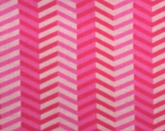 Pink Chevron Stripe Fabric Remnant
