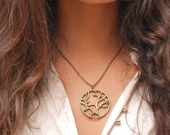 FREE SHIPPING! Tree pendant necklace, mother nature necklace,  tree of life pendant, tree pendant, bronze tree necklace, gift idea.