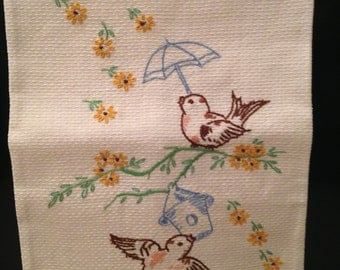 "Vintage ""Home Tweet Home"" Decorative Hand Towel 2 of 2"